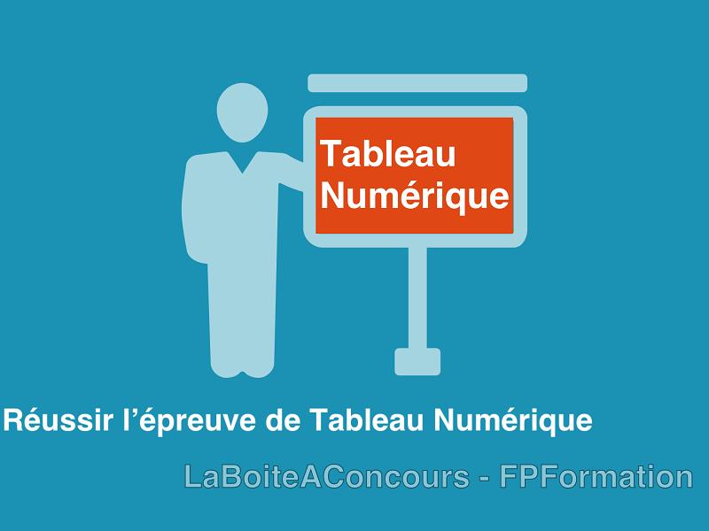 Tableau Numérique : Le Cours